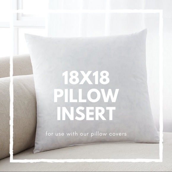 18x18 Throw Pillow Insert.18x18 Throw Pillow Insert